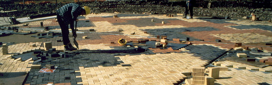 Artist: 'Watermark' Floorscape, Cardiff Bay Pumping Station