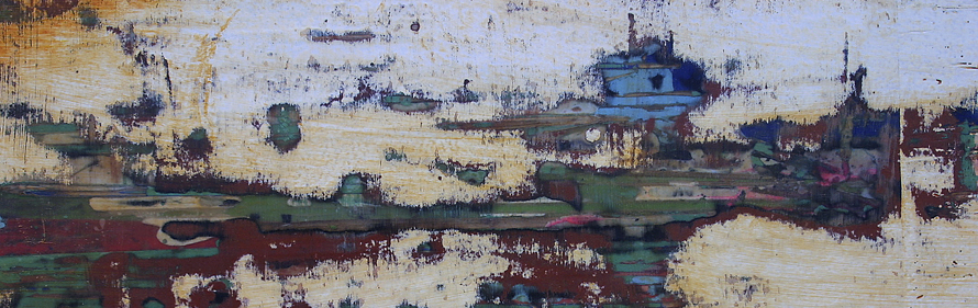 "Artist: Detail from ""We're Breaking Up"" Mixed Media on Canvas"